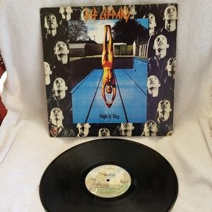 Vintage Vinyl Def Leppard High 'N' Dry. Hard Rock